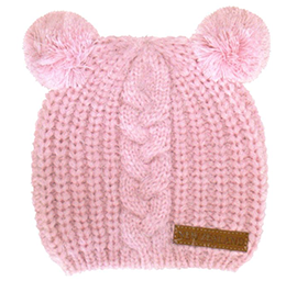 NZ Twin Pom Pom Beanie - 60704 CHILD