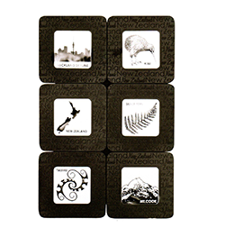 Laser Etched NZ Coasters - 80442