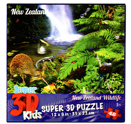 New Zealand Wildlife 3D Jigsaw Puzzle - 80800