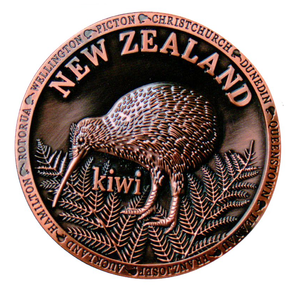 New Zealand Kiwi Copper Plate - 80862