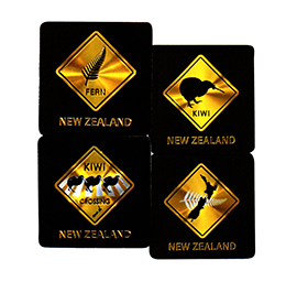 Foil NZ Road Signs Coasters - 80865