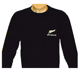 New Zealand & Fern Embroidered - Long Sleeve