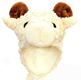 Sheep Hat With Scarf Combo - 60025