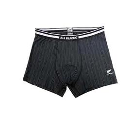 All Blacks Pinstripe Boxer Shorts - UND105AB-BLK
