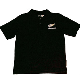 All Blacks Child Polo Shirt - KPO0100AB