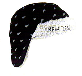 NZ Ferns Lined Trapper Hat - ABC31