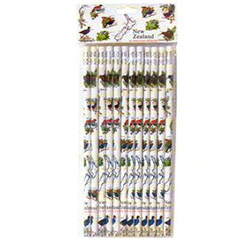 NZ Birds & Flowers Pencils - SP105 Pack of 24 (2 packs of 12)