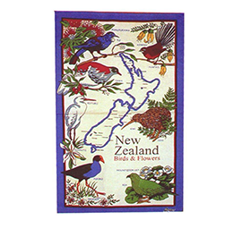 NZ Birds Tea Towel - MBF - 6 PACK