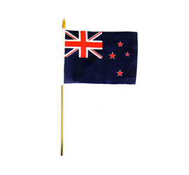 New Zealand Flag on Stick - 80043 PACK of 12