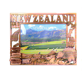 NZ Kiwi Copper Photo Frame - MISC90C