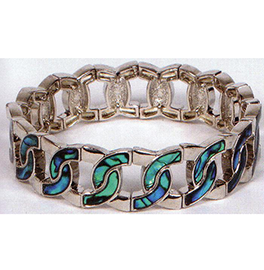 Interlocking Circles Paua Bracelet - EBR35