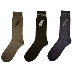 MENS Silver Fern Socks - 55111/2/3 SET of 6