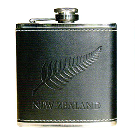 New Zealand Fern Embossed Hip Flask - 82247