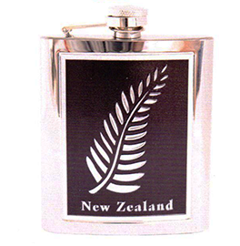 New Zealand Fern Hip Flask - MISC61