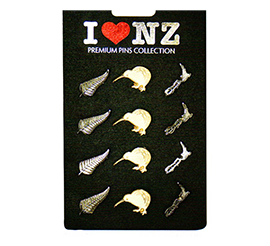 Fern Kiwi NZ Map Lapel Badges - 80446