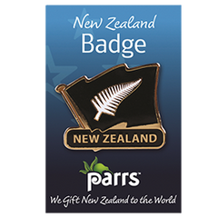 NZ Silver Fern Lapel Badges - 192B SET of 5