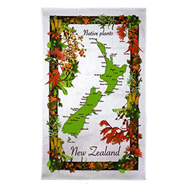 Native Plants Tea Towel - 65034- 6 PACK