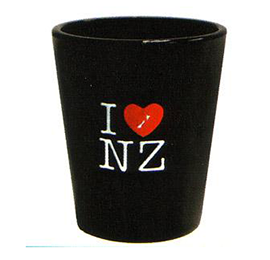 I Luv NZ Shot Glasses - SS209 Set of 2