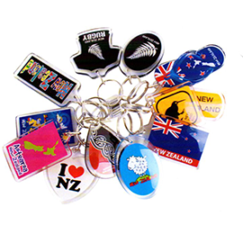 Set of 12 Assorted Kiwiana Key Rings - K254-12PK