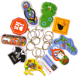 Set of 10 Assorted Key Rings - 21995 TIKI