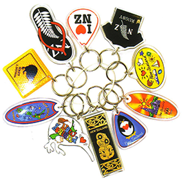 Set of 10 Assorted Key Rings - 21996 CHCH