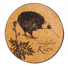 Kiwi Cork Coasters - 80163 SET of 6