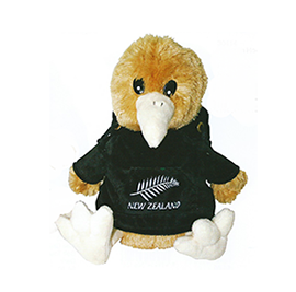Kiwi in Black Hoody Large - 30414