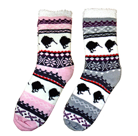WOMENS Kiwis House Socks - 55193/ 94 SET of 2