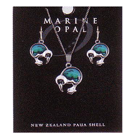Kiwis Necklace & Earrings - SET109