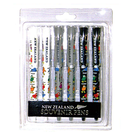 Kiwis Metal Clip Pens - 40153 Pack of 6