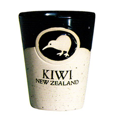 Stoneware Kiwi Shot Glasses - 10411 Set of 2