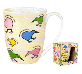 Quirky Kiwis Bone China Mug - MUG30B