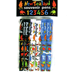 New Zealand Kiwis Pens 6 Pack - 40158