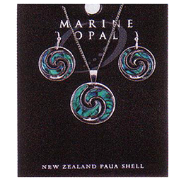 Koru Necklace & Earrings - SET112