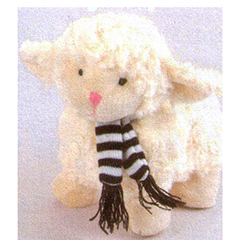 Lamb With Black Scarf - TS4247