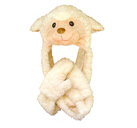 Lamb Hat With Scarf Combo - 60010