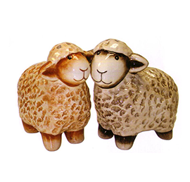 Coloured Sheep Salt & Pepper Shakers - 10418