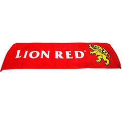 Lion Red Beer Bar Towel - TRLI60760