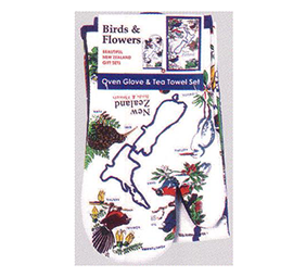 Birds & Flowers Oven Glove & Tea Towel - MBF-GT