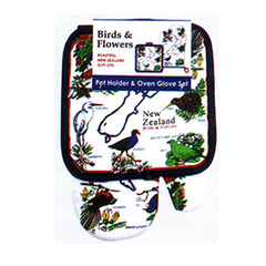 Birds & Flowers Pot Holder & Oven Glove - MBF-PG