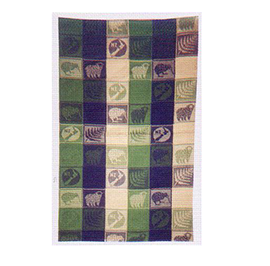 Jacquard Kiwi NZ Map Tea Towel - MTWG 6 PACK
