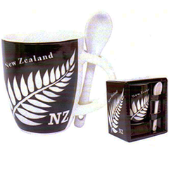 Silver Fern Mini Mug & Spoon - MUG79