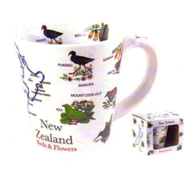 NZ Birds & Flowers Latte Mug - MUG89