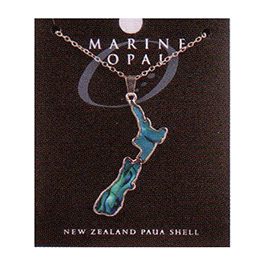 Paua Fine Chain Necklace - PJS138