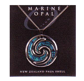 Paua Fine Chain Necklace - PJS101