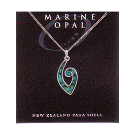 Paua Fine Chain Necklace - PJS145