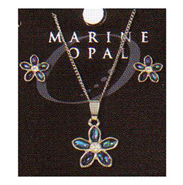 Flower Necklace & Earrings - SET102