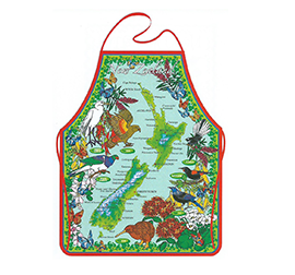 Birds & NZ Map Apron - 65095