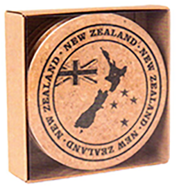 New Zealand Flag & Map Coasters - COAS25