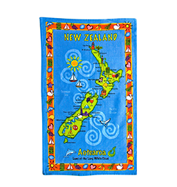 NZ Map Tea Towel - 65005